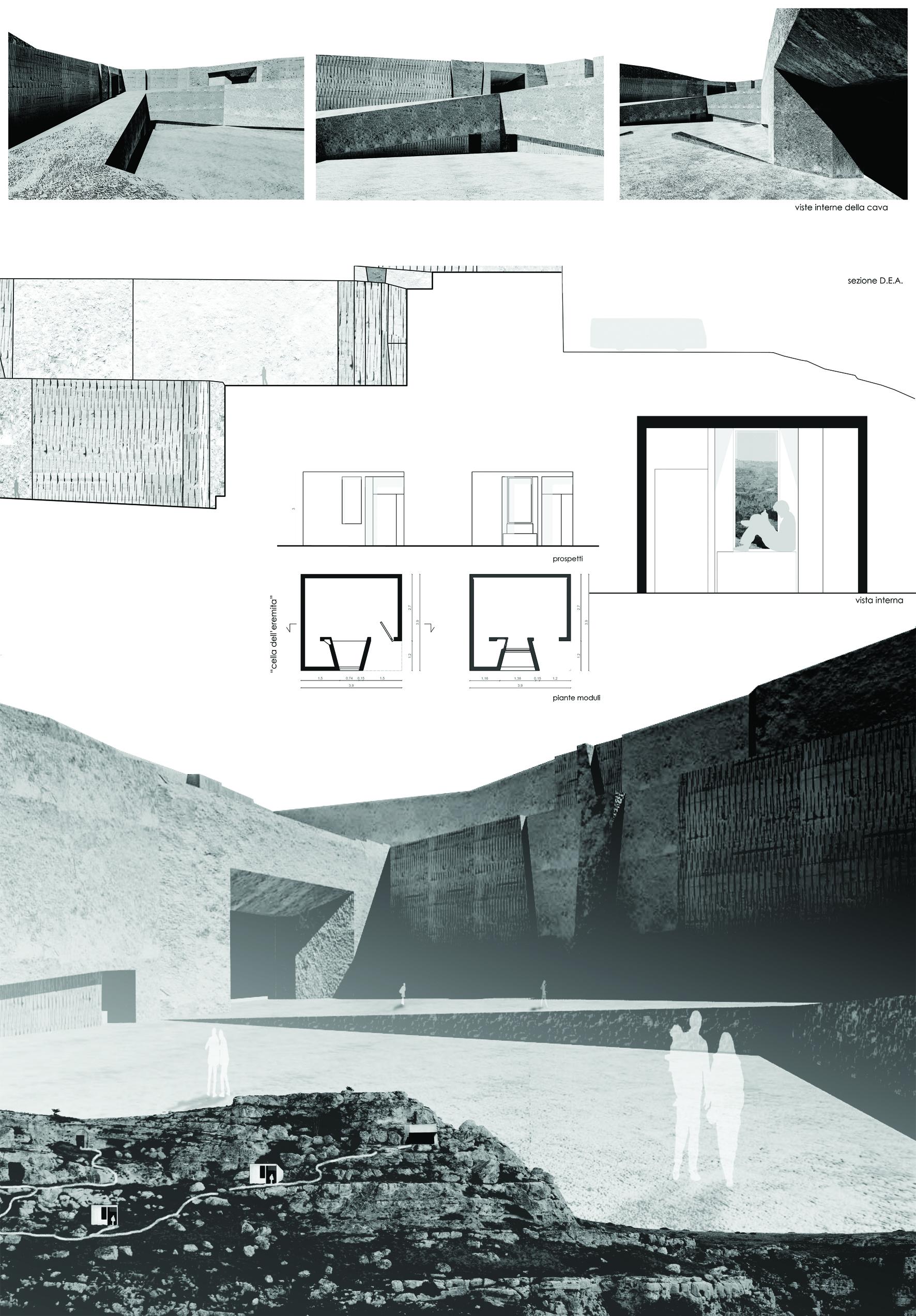 Progetti la citt scavata for Programma di architettura